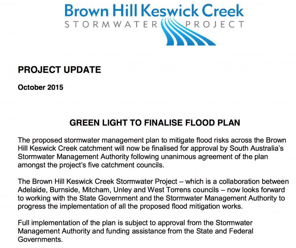 """Green Light to Finalise Flood Plan"""